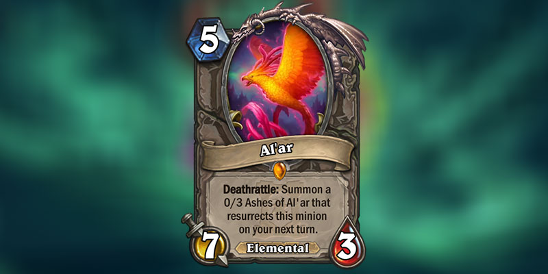 Al'ar is a new Legendary Neutral Card Revealed for Hearthstone's Ashes of Outland Expansion