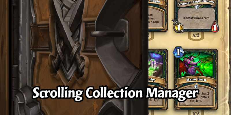 This Week's Hearthstone Update Adds Scroll Wheel Support to the Collection Manager