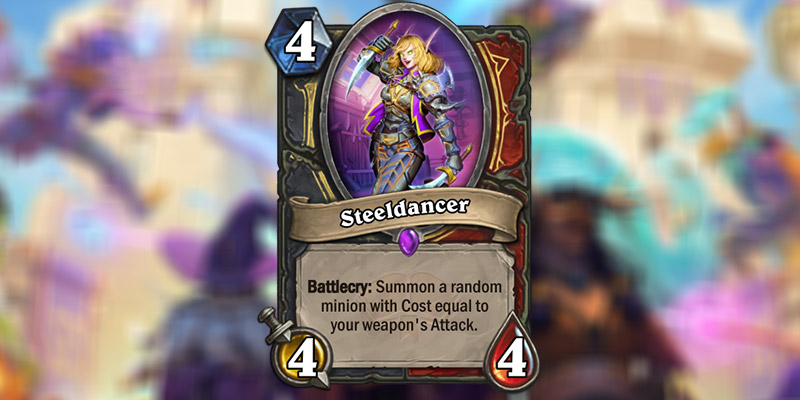 Steeldancer is a New Rogue & Warrior Card Revealed for Hearthstone's Scholomance Academy Expansion