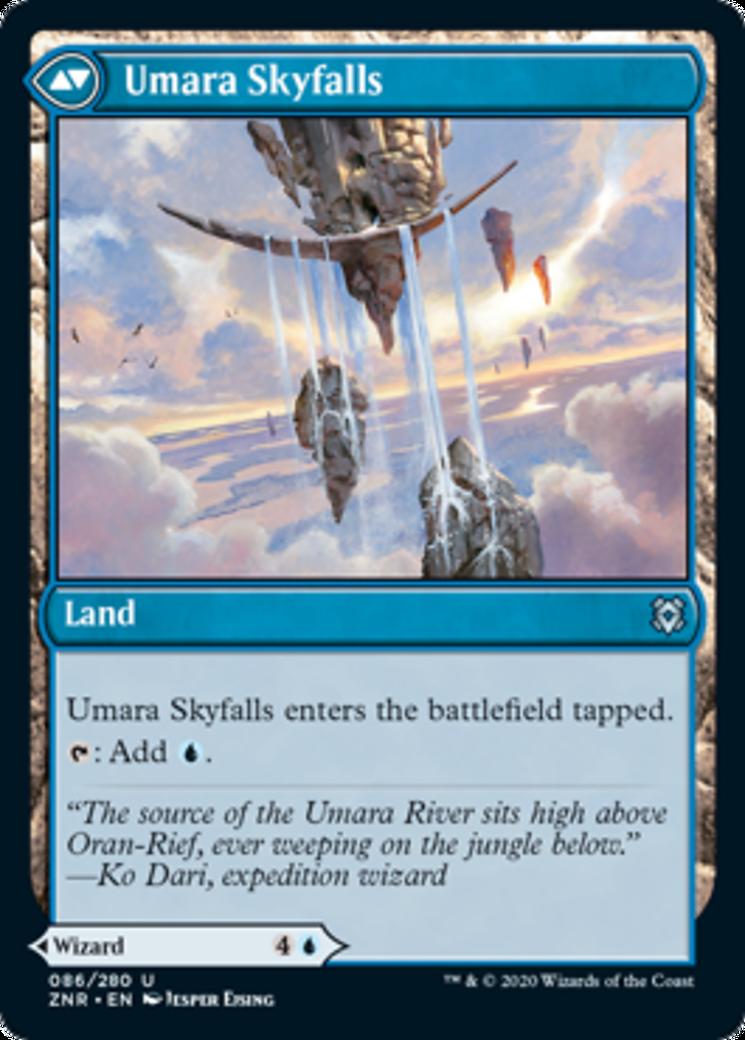 Umara Wizard // Umara Skyfalls Card Image