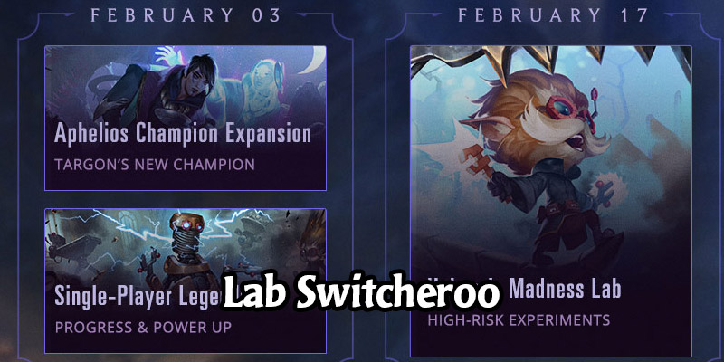 Riot Rearranges the Labs Schedule for Runeterra's Upcoming Patches