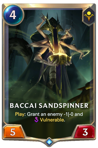 Baccai Sandspinner Card Image