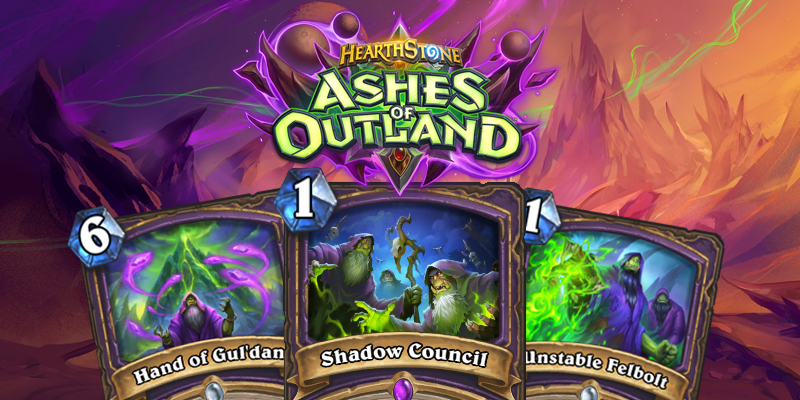 Our Thoughts on Hearthstone's Ashes of Outland Warlock Cards