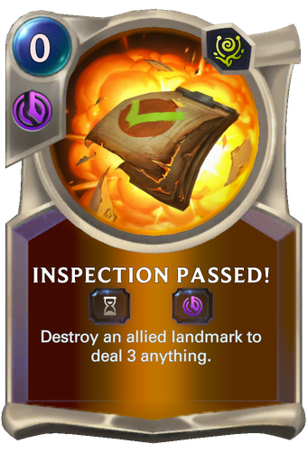 Inspection Passed! Card Image