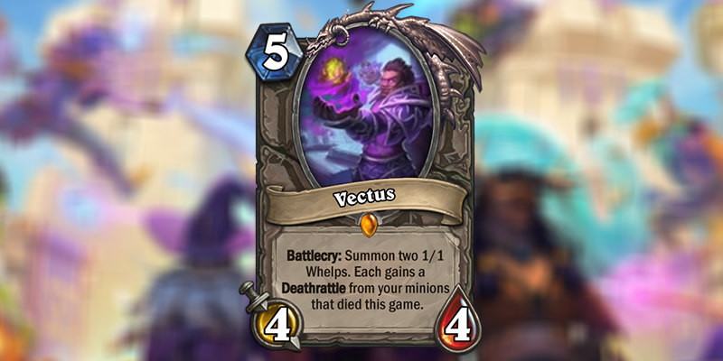 Vectus is a New Legendary Card Revealed for Hearthstone's Scholomance Academy Expansion