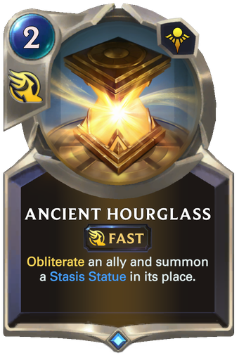 Ancient Hourglass Card Image