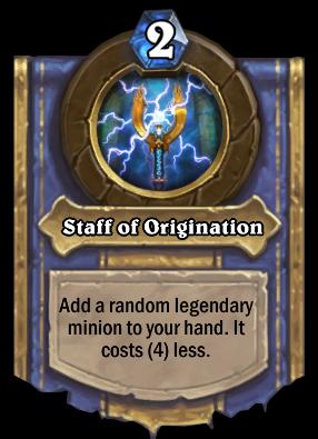 Staff of Origination Card Image