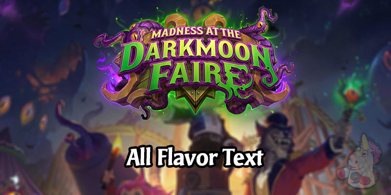 All Card Flavor Text for the Madness at the Darkmoon Faire Hearthstone Expansion