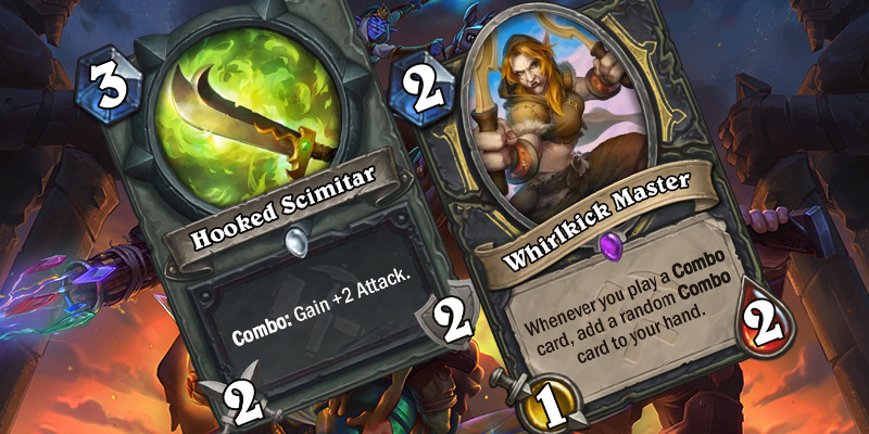 Uldum Rogue Card Reveals - Hooked Scimitar & Whirlkick Master