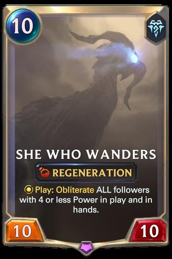 She Who Wanders Card Image