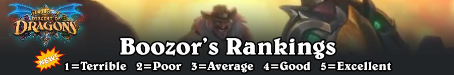 DoD Boozor's Rankings