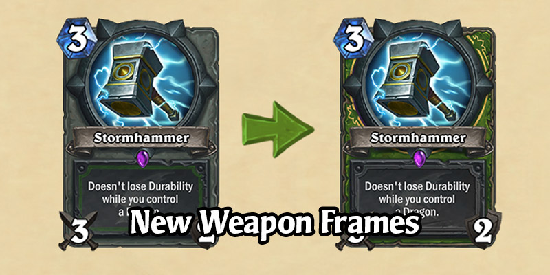 Hearthstone Gets New Weapon Frames Later This Month - Class Weapons Look Amazing