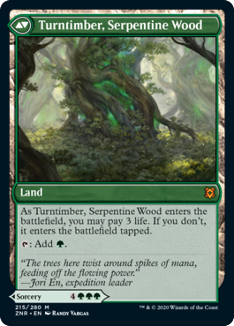 Turntimber Symbiosis // Turntimber, Serpentine Wood Card Image