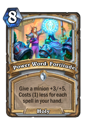 Power Word: Fortitude Card Image