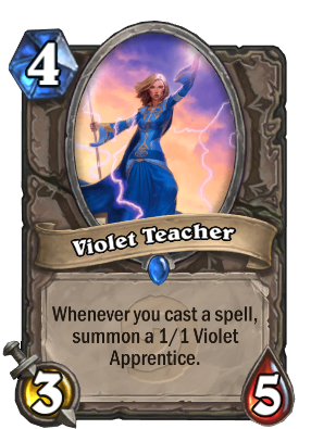 Violet Teacher Card Image