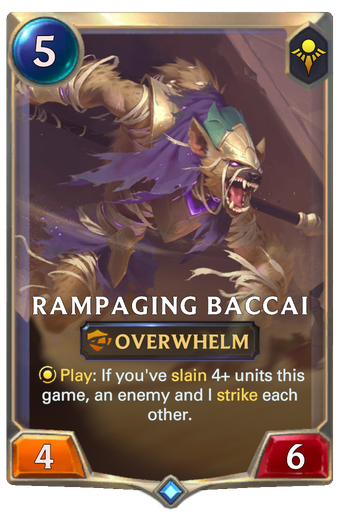 Rampaging Baccai Card Image