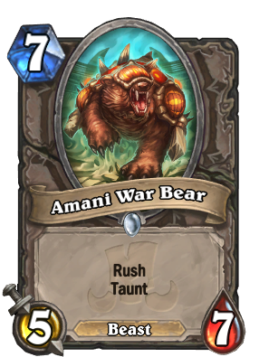Amani War Bear Card Image