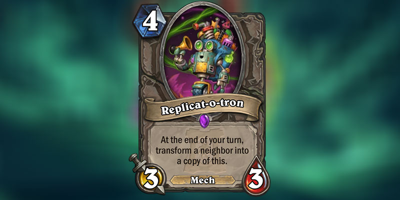 Replicat-o-tron is a new Card Revealed for Hearthstone's Ashes of Outland Expansion