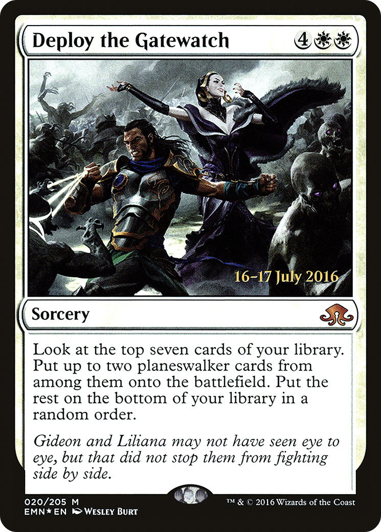Deploy the Gatewatch Card Image